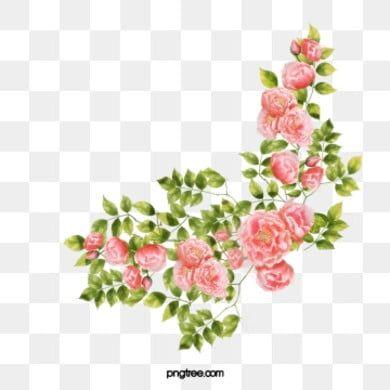 Corner Flower Png And Psd Bunga