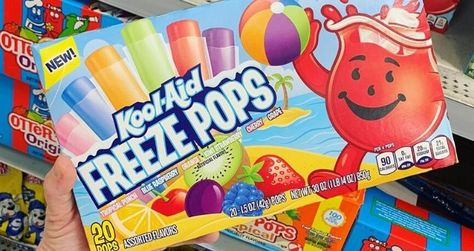 These new Kool-Aid Freeze Pops are basically your favorite Kool-Aid juice drinks but in a frozen, more nostalgic form to cool you down this summer.