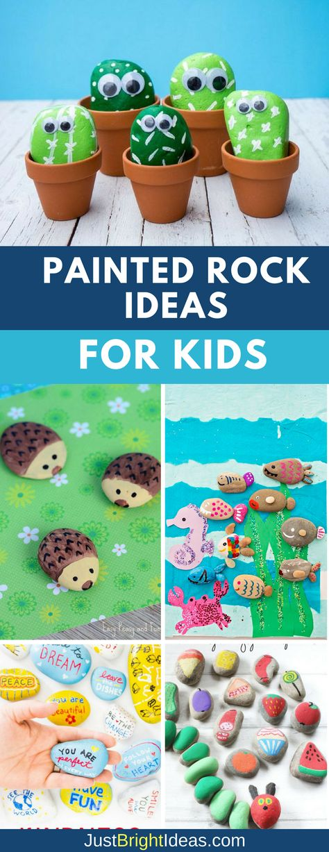 If you're looking for easy painted rock ideas we've got everything from hedgehogs and bumble bees to galaxy rocks and kindness rocks!