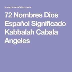 72 Nombres Dios Español Significado Kabbalah Cabala Angeles Nombres De Dios Dios En Hebreo Nombres