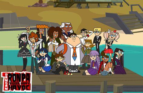 Total Drama Danganronpa Thing Part 1 by tizzy-will-rule on DeviantArt Danganronpa Funny, Danganronpa Characters, Anime Meme, Manga, Byakuya Togami, Danganronpa Trigger Happy Havoc, Total Drama Island, Another Anime, Anime Crossover