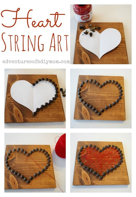 String art is a great #DIY project and makes a wonderful #ValentinesDay gift for friends and family alike! Get inspired by @prnielsen's lovely work and try it yourself — you can choose whatever Minwax® color is close to your heart.