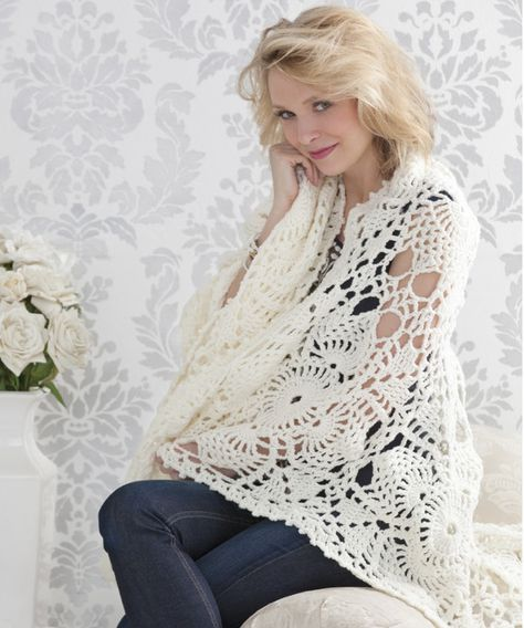 May we present to you the Downton Abbey Inspired Crochet Afghan, a superb addition to any household. This light and lacy crochet afghan pattern immediately reminded us of one of the most popular TV shows around. Can't you easily see any of the Ladies of Downton wrapping up in this lacy motif?