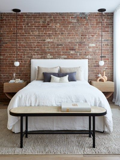 Only The Brick Walls Are Original In This Soho Loft Makeover Brick Wall Bedroom Brick Bedroom Brick Interior