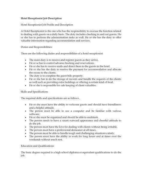 Resume Job Description Hostess Service Waitress Waiter Samples