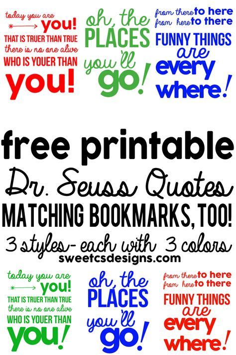 image relating to Free Printable Dr Seuss Quotes known as Pinterest