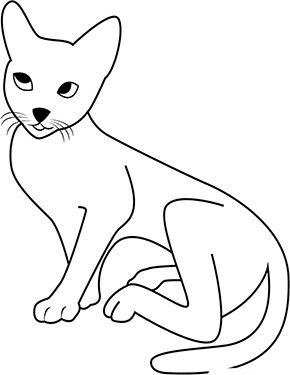 Ausmalbild Braune Katze Zum Ausmalen Ausmalbilder Malvorlagen
