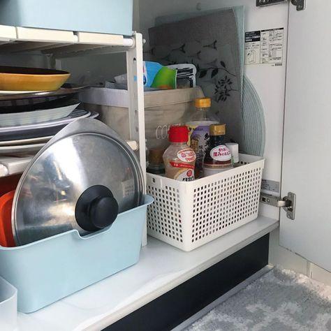 一人暮らしのキッチン周り 狭いけどおしゃれに使いやすくしたいですが 調理器具や食材 調味料など キッチン 周りはなにかと物が多く気が付くと雑然としてしまいがちですよね そこで今回は 一人暮らしのキッチンの収納術を収納するアイテムごとにご紹介します