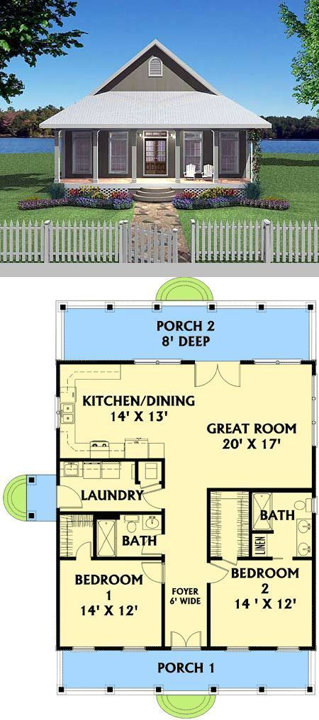 For The Love Of Cabins Tiny House Plan New House Plans Cottage Plan House Plans
