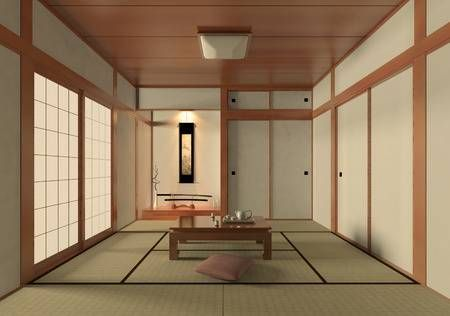 3d Rendering Japanese Style Room Japanese Bedroom Japanese Style Bedroom Japanese Interior Design
