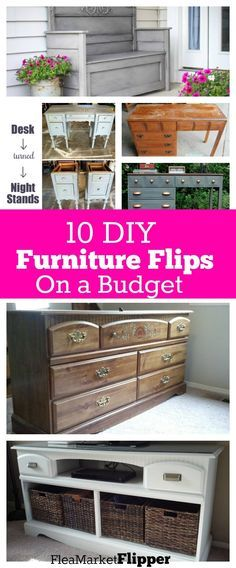 upcycled furniture Need some inspiration for repurposing your old furniture pieces Check out some of these fantastic furniture flips/upcycle/redos! All on a tight budget too! Diy Furniture Flip, Thrift Store Furniture, Diy Furniture Projects, Shabby Chic Furniture, Furniture Decor, Furniture Makeover, Furniture Websites, Bedroom Furniture, Cheap Furniture