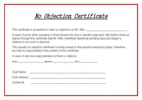 Hockey No Objection Certificate Hockey Certificate Templates - no objections certificate