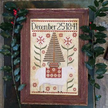 Deer Santa Folk Art Christmas Kathy Barrick Cross Stitch Pattern