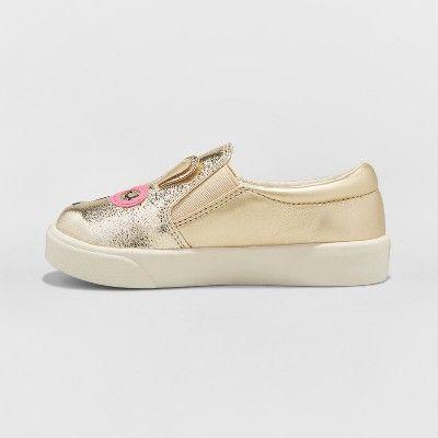 662e89db790 Toddler Girls  Augusta Slip on Metallic Bunny Critter Sneakers - Cat   Jack  Gold 11