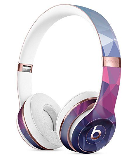 Blue Red Purple Geometric DesignSkinz Full-Body Skin Kit for the Beats by Dre Solo 3 Wireless Headphones / Ultra-Thin / Matte Finished / Protective Skin Wrap Cute Headphones, Bluetooth Headphones, Kawaii Accessories, Tech Accessories, Headset, Mode Kawaii, Accessoires Iphone, Accesorios Casual, Beats By Dre
