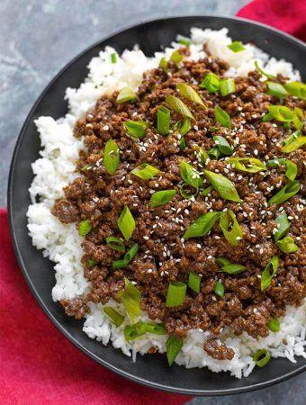 Instant Pot Korean Ground Beef - Bulgogi   Instant pot ...