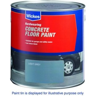 Wickes Concrete Floor Paint Light Grey 2 5l Wickes Co Uk With