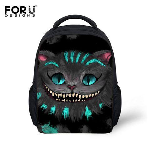 3974fe27e705 FORUDESIGNS Children Fashion Shoulder Backpack Cute 3D Cat Kids School Book  Bagpack For Boys Girls Mochilas Infantils Rucksacks