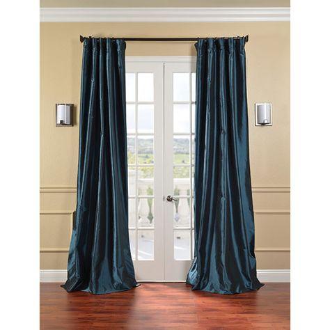 Mediterranean Faux Silk Taffeta Single Panel Curtain 50 X 108