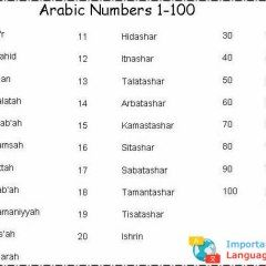 Arabic Numbers 1 100 Language Guide Chinese Language Learning Learn Chinese
