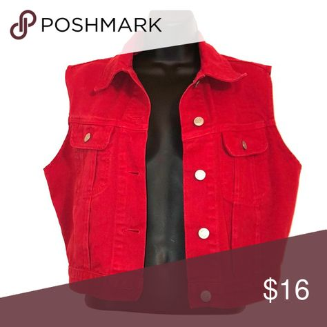 a17eedc2d18 A Red best to add as an accessory to just about any outfit. Silver buttons