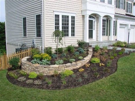 A #stacked Stone Border #wall Such As This One Gives You A Chance To Plant  Flowers And A Garden Around Your Home, Surely Giving Your Yard A Ton Of U2026