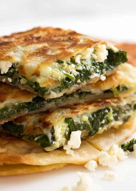 Gozleme Turkish skilletcooked flatbread stuffed with spinach cheese or lamb peppers RecipeTin Eats Turkish Flatbread Recipe, Flatbread Recipes, Phyllo Dough Recipes, Feta Cheese Recipes, Turkish Recipes, Greek Recipes, Ethnic Recipes, Romanian Recipes, Scottish Recipes