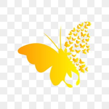 Hand Painted Cartoon Yellow Butterfly Butterfly Clipart A Group Of Butterflies Yellow Gradient Png And Vector With Transparent Background For Free Download Butterfly Illustration Butterflies Vector Butterfly Wallpaper Iphone