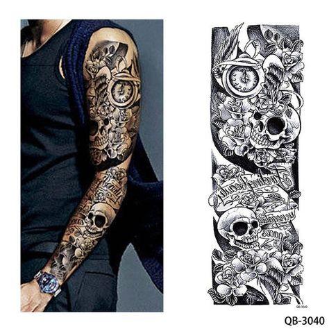 1 Piece Temporary Tattoo Sticker Nun Girl Pray Design Full Flower Arm Body Art Beckham Big Large