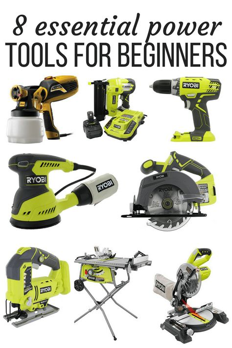 roundup the first essential power tools that beginners should buy when they st. A roundup the first essential power tools that beginners should buy when they st.A roundup the first essential power tools that beginners should buy when they st. Woodworking Tools For Beginners, Woodworking Power Tools, Easy Woodworking Projects, Wood Working For Beginners, Popular Woodworking, Woodworking Jigs, Wood Projects, Woodworking Workshop, Woodworking Classes