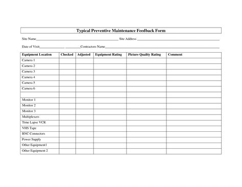 best photos of equipment preventive maintenance template heavy - maintenance checklist template