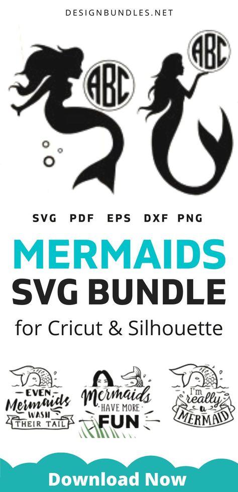 Mermaid SVG files bundle