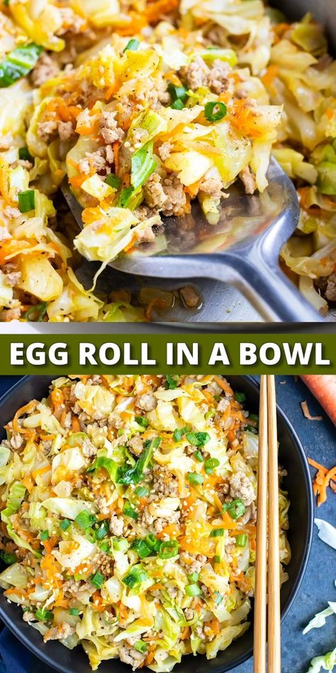 30-Minute Egg Roll in a Bowl (Low-Carb & Keto)