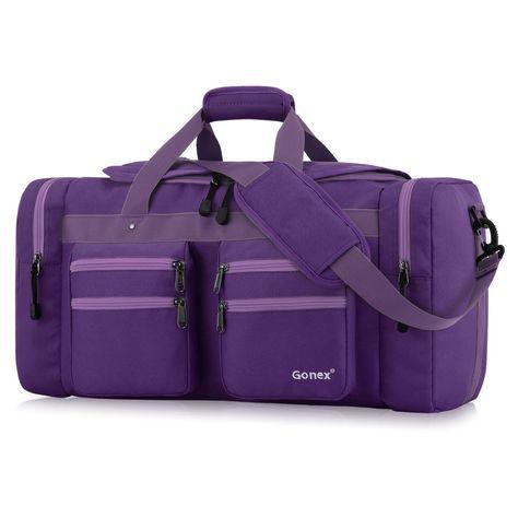 05a0b1c3fb Oflamn Petit Toile Sac de Voyage pour Femmes et Hommes - Sac de Sport -  Small Travel Duffel Bag & Sports Gym Bag (2.0 Gris) | Bagages | Bags, Gym  Bag et Gym