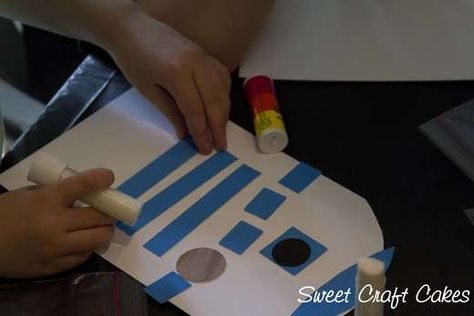 Star Wars party craft ~ make your own R2D2 unit