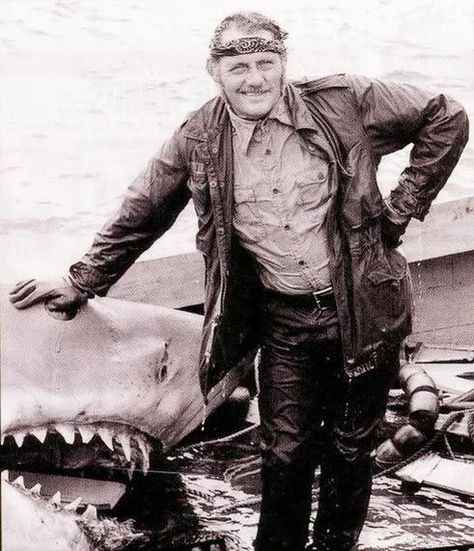 Jaws Bts Robert Shaw Quint And Bruce The Shark Jaws Movie Shark Movie Scenes