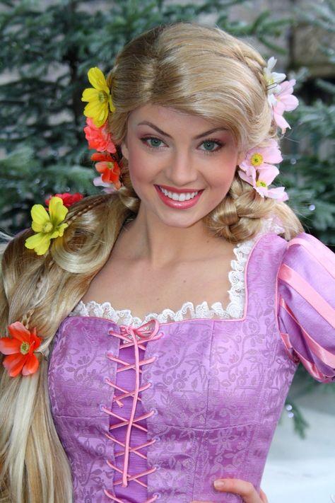 Princess Rapunzel from Disney's Tangled in Disneyland Paris