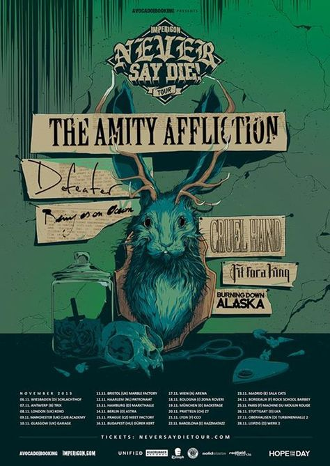 - DIFFERENT SIZES 2 The Amity Affliction BAND POSTER FREE UK POSTAGE