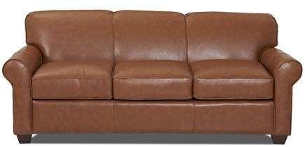 Jennifer Genuine Leather 81 Rolled Arms Sofa Genuine Leather Sofa Top Grain Leather Sofa Leather Sofa Bed