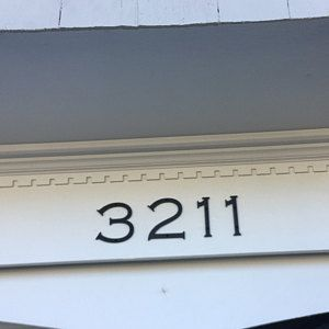 Large Brush Script Cursive House Numbers Etsy House Numbers Brush Script House Address