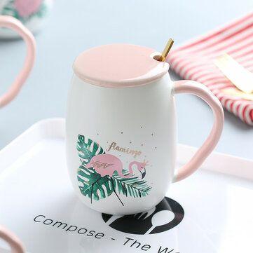 الإبداعية زوجين المياه القدح اعتصامات رخامية كأس السيراميك فلامنغو يونيكورن نمط فنجان القهوة St Kitts And Nevis Flamingo Pattern Uganda