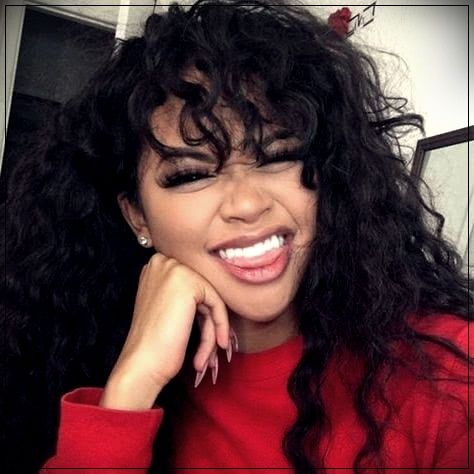 Beautiful long curly hairstyles with bangs human hair wigs for black women african american lace front wigs (African American Hair Tips)