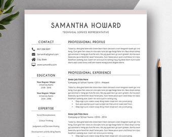 Clean Cv Template Resume Template For Job Application Editable Cv Format Cover Letter Ms Word Resume Simple Resume Instant Download Modele De Cv Professionnel Cv Professionnel Cv Lettre De Motivation