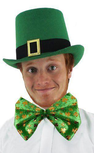 St Patricks Day Leprechaun Top Hat with Shamrock Toyco