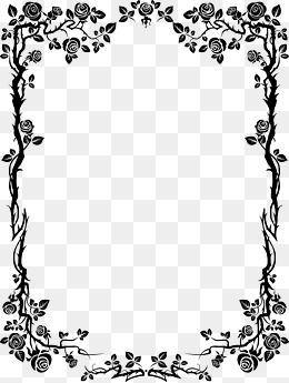 Imagem Relacionada Moldura Preto E Branco Convites Preto E Branco Flores Preto E Branco