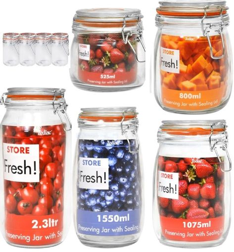 Zodiac Clip Top Glass Preserving Jars Glass Preserving Jars