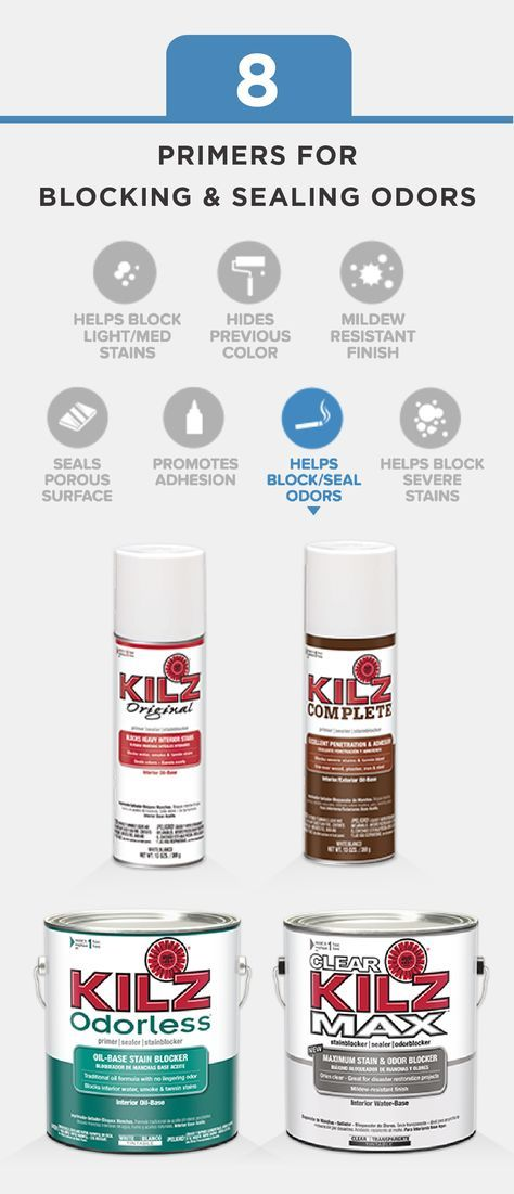This Collection Of Kilz Primers Help To Block And Seal Odors In