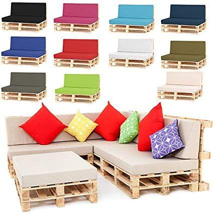 Outdoor Garden Pallet Furniture Seating Corner Sofa Back Cushion Small Navy Blue Amazon Co Uk Garden Ou Palletmeubels Palletstoel Houten Pallet Projecten