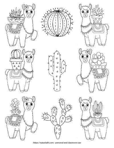 Ridiculously Cute Llama Coloring Pages For Kids Teens Cool Coloring Pages Cute Coloring Pages Coloring Pages