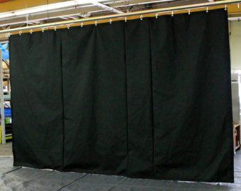 Black Stage Curtain Backdrop Partition 10 H X 20 W Non Fr Free